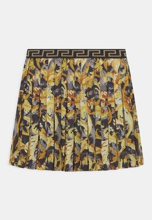 SKIRT BAROCCO FLAGE - Plisovaná sukně - nero/oro