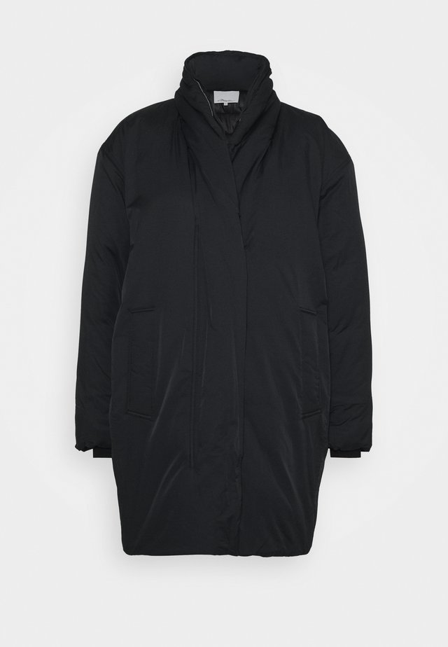 LONG DUVET COAT - Winterjas - black