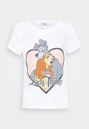 ONLLADYTRAMP - T-shirt print - white