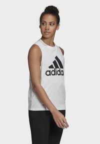 adidas Performance - BADGE OF SPORT COTTON TANK TOP - Top - white - 3
