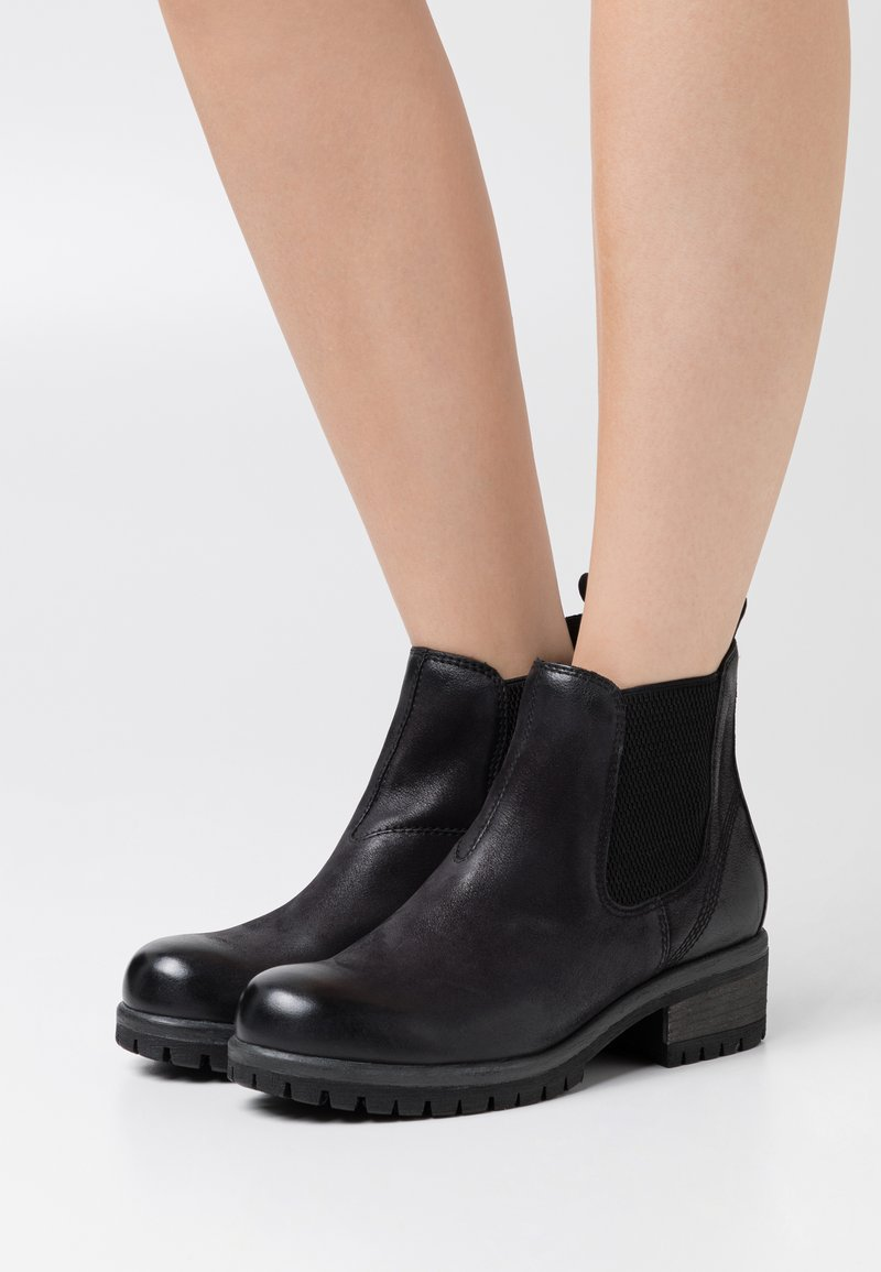 Anna Field - LEATHER - Kotníková obuv - black