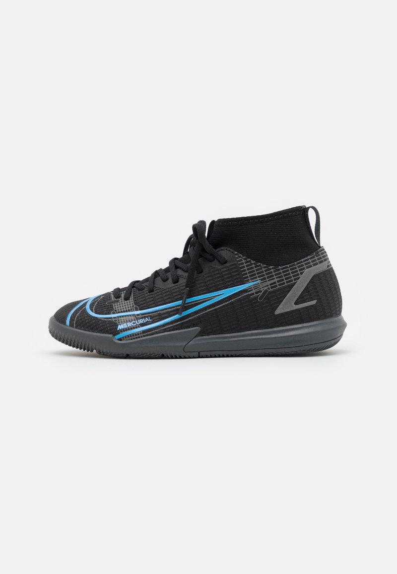 Nike Performance - MERCURIAL JR 8 ACADEMY IC UNISEX - Indoor football boots - black/iron grey