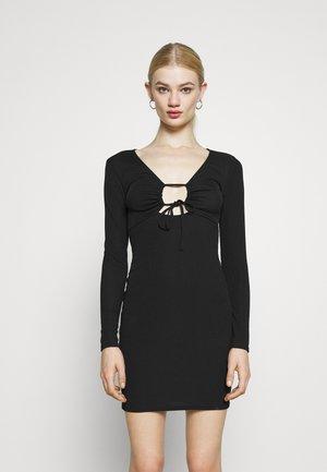 KEYHOLE MINI - Denní šaty - black