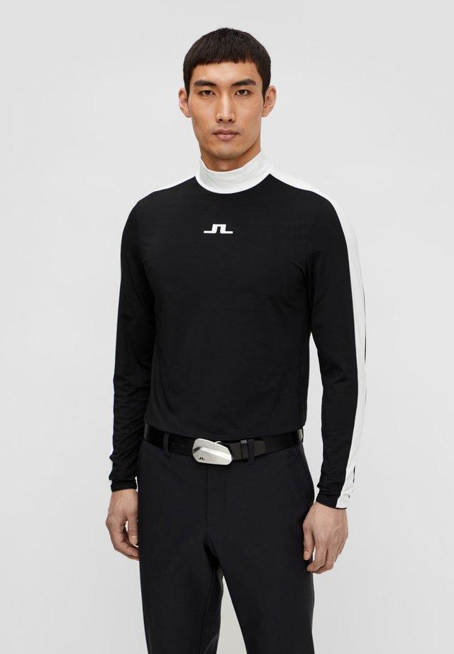SASHA CREW NECK LIGHT MID - Sports shirt - black