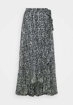 Maxi skirt - abstract lurex