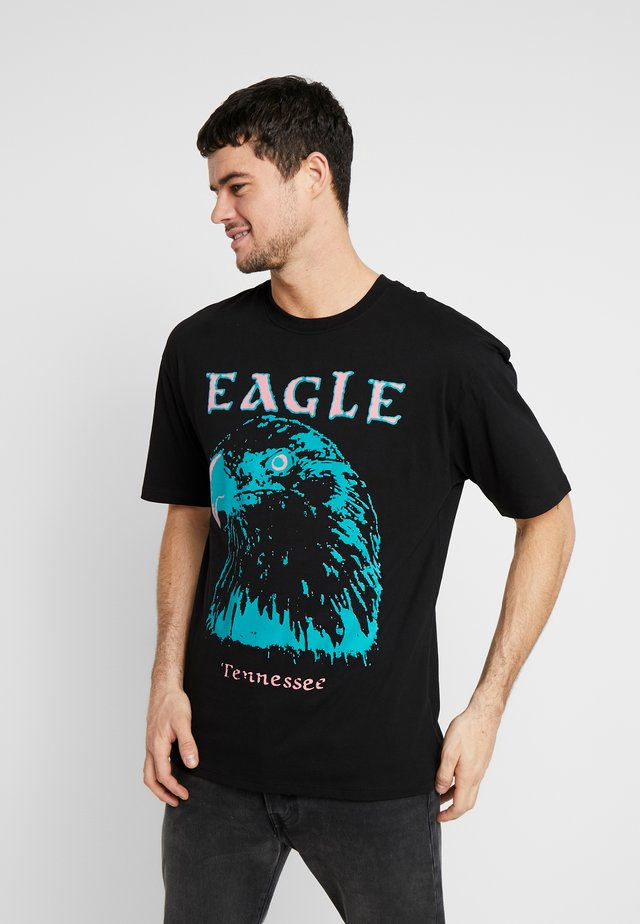 EAGLE TEE - T-shirt print - black