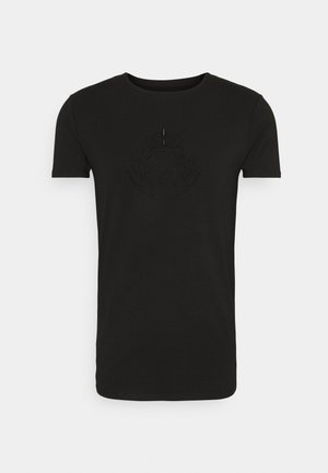 PRESTIGE EMBROIDERY GYM TEE - Camiseta estampada - black