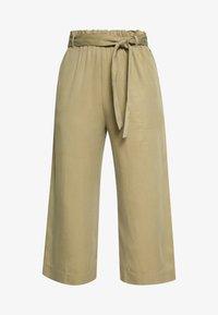 PANTS WIDE LEG BELT - Trousers - bleached olive