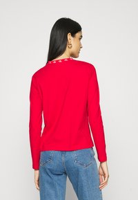 Calvin Klein Jeans - LOGO TRIM TEE - Long sleeved top - red hot - 2