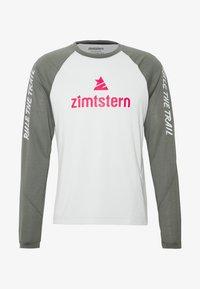 Zimtstern - PURE FLOWZ MEN - Tekninen urheilupaita - glacier grey/gun metal/cyber red - 3