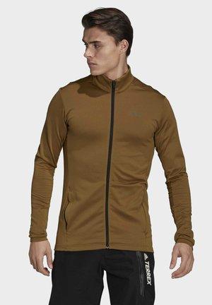 MT FULL Z FLEEC - veste en sweat zippée - brown