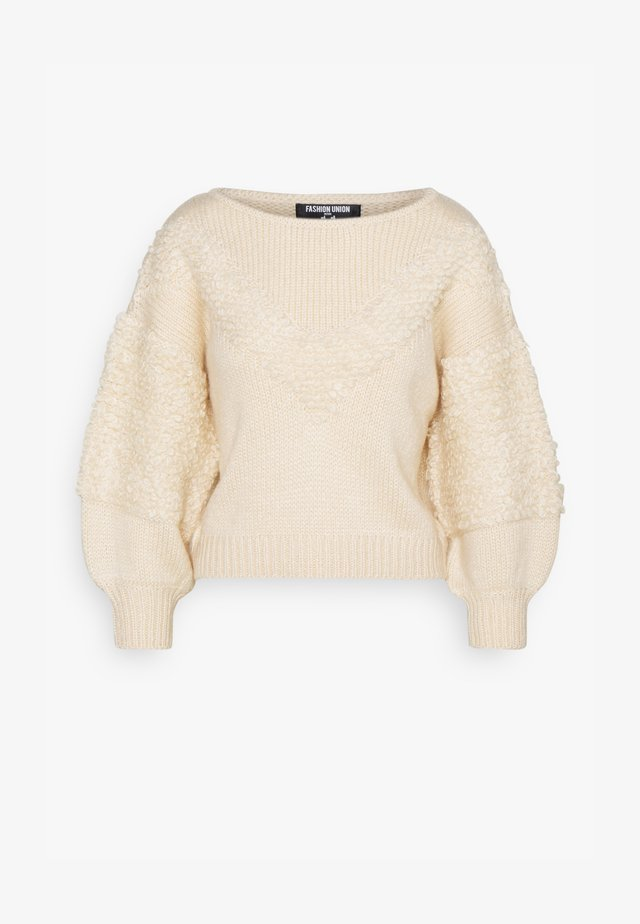 LOOPY - Pullover - cream