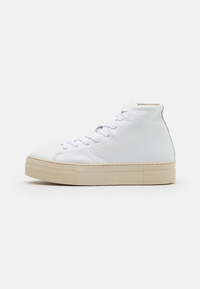 SLFHAILEY HIGHTOP TRAINER - Sneakers hoog - white