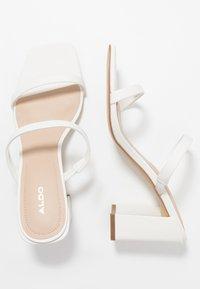 ALDO - SEVADOSA - Heeled mules - white - 3