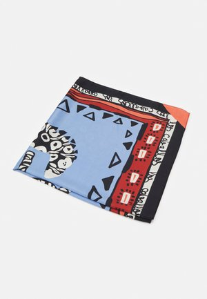 SQUARE SCARF LATERAL SQUARES - Skjerf - light blue