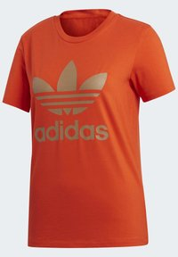 adidas Originals - TREFOIL TEE - T-shirt print - energy orange/cardboard - 9