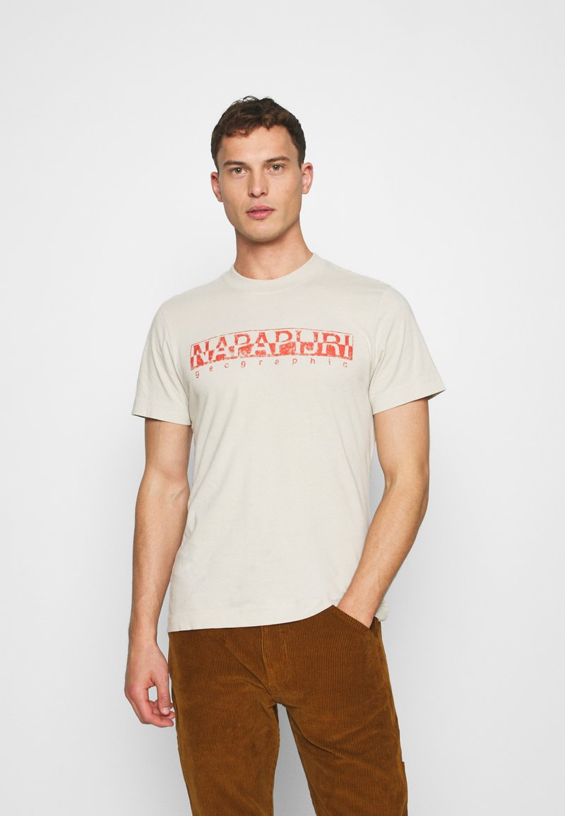 Napapijri - SOLANOS - Print T-shirt - dove grey