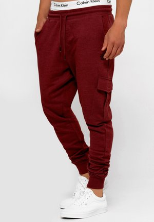 BENDNER - Cargo trousers - bordeaux mix