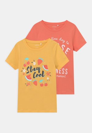 NMFVEEN 2 PACK - T-shirt print - sunset gold