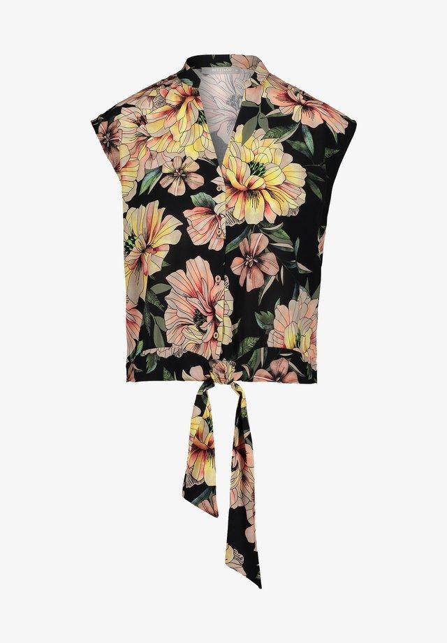 Button-down blouse - black-nature
