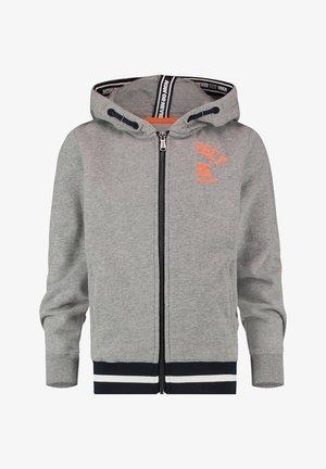 Zip-up hoodie - grey mele