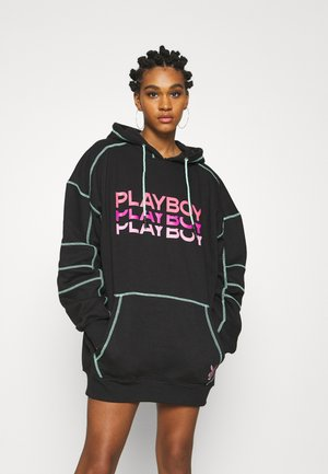 PLAYBOY TRIPLE LOGO CONTRAST STITCH  - Vestido informal - black