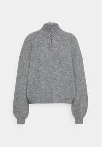 Zign - Half zip jumper - Strickpullover - mid grey - 4