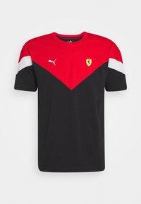 Puma - FERRARI RACE TEE - Print T-shirt - black/rosso corsa - 3
