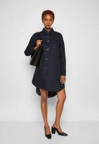 MM6 Maison Margiela - DRESS - Shirt dress - navy - 4