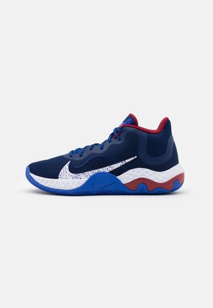 RENEW ELEVATE - Basketball shoes - blue void/white/racer blue/deep royal blue/red crush