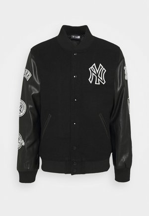 NEW YORK YANKEES MLB HERITAGE VARSITY JACKET - Sportovní bunda - black