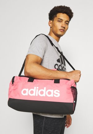 LINEAR DUFFEL S UNISEX - Sports bag - hazy rose/black/white