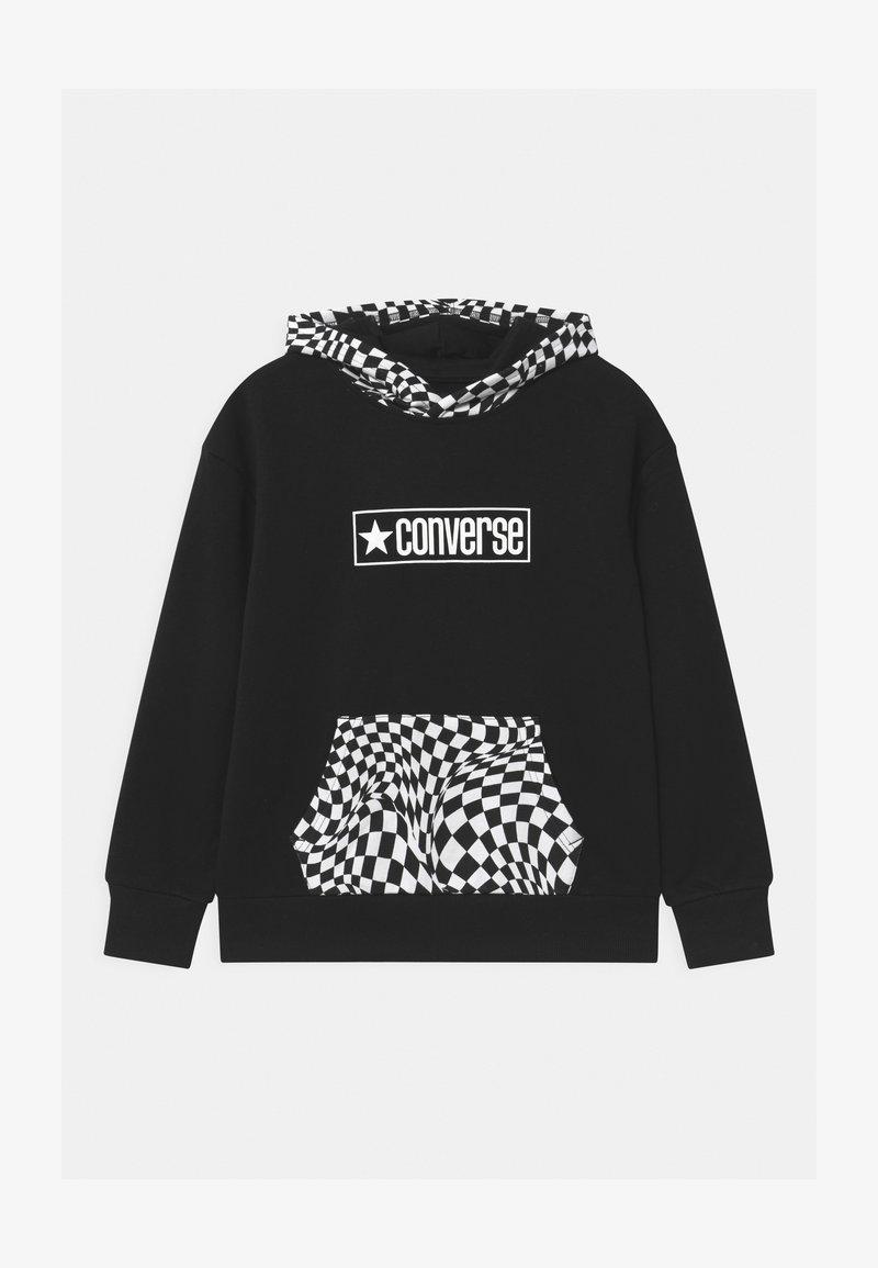 Converse - CHECKER HOODIE - Sweatshirt - black