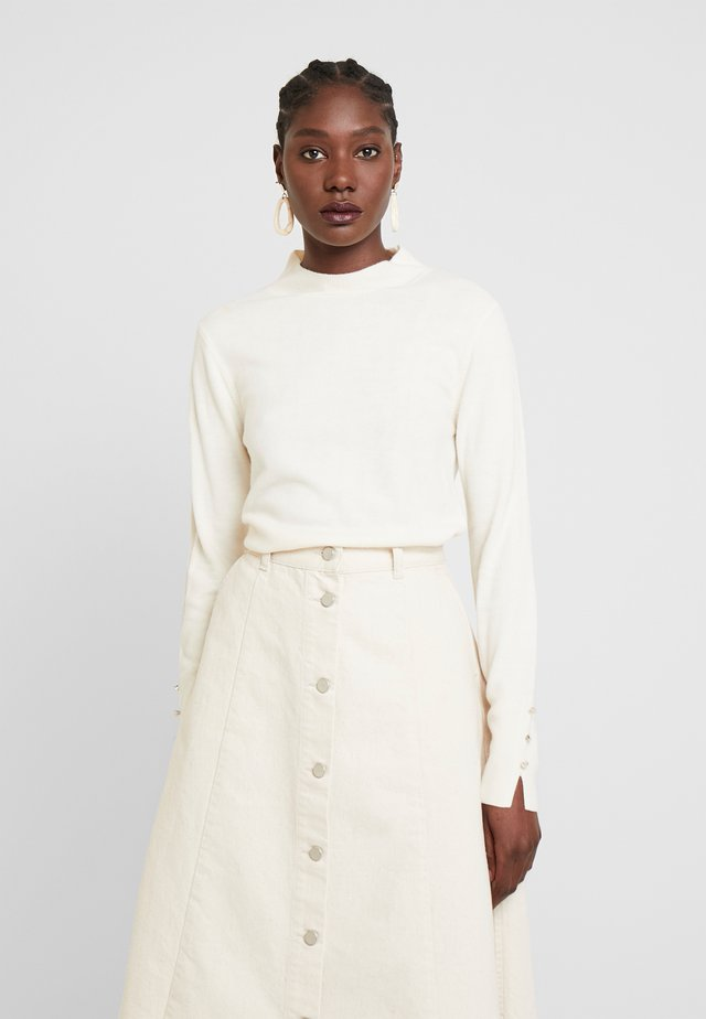HIGH NECK JUMPER - Neule - ivory