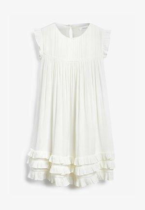 RUFFLE  - Jersey dress - off-white