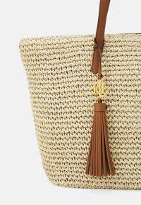 Lauren Ralph Lauren - CROCHET TOTE - Handbag - natural - 5