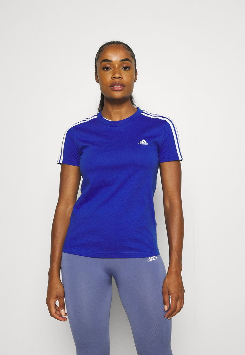 adidas Performance - Camiseta estampada - bold blue/white