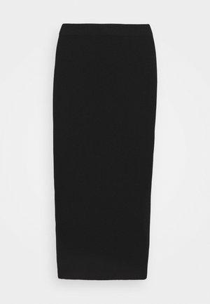 SANIA - Pouzdrová sukně - jet black