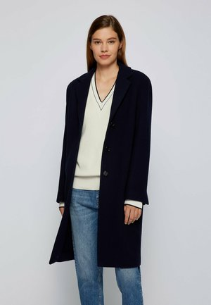CALETO - Classic coat - open blue