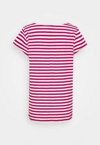 Esprit - SLUB - Print T-shirt - dark pink - 1