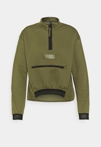 adidas Performance - TERREX UTILITAS HALF ZIP - Long sleeved top - focus olive - 4