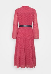 MICHAEL Michael Kors - PRINTED BELTED SHIFT DRESS - Shirt dress - crimson - 8