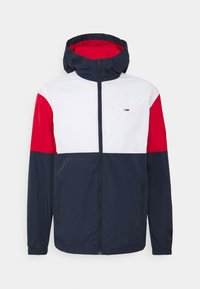 Tommy Jeans - COLORBLOCK UNISEX - Summer jacket - white/multi - 5