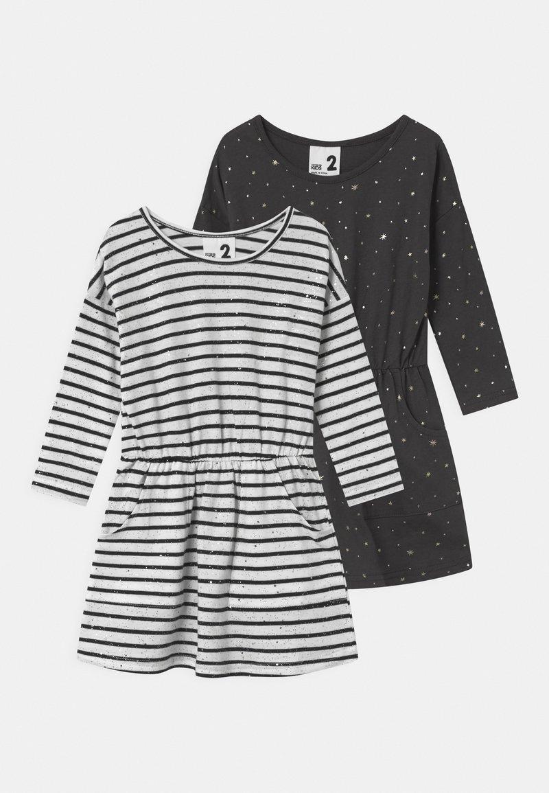 Cotton On - SIGIRD 2 PACK - Žerzejové šaty - phantom/indian ink