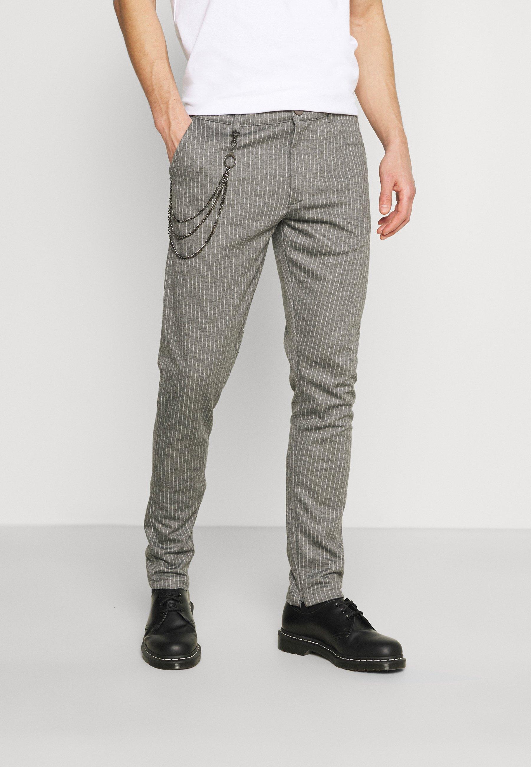Men SDBARRO ZIPPER STRIPE - Trousers