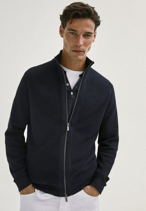 Cardigan - blue-black denim