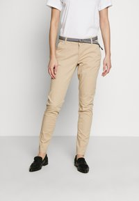s.Oliver - LANG - Chinos - brown - 0