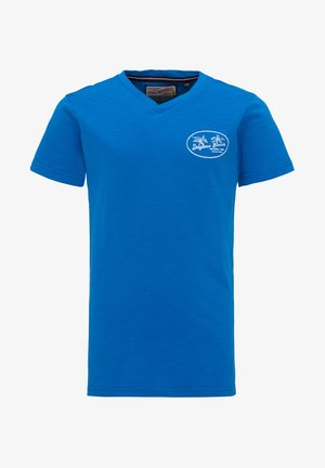 Print T-shirt - electric blue