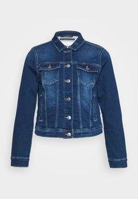 ONLY - ONLTIA LIFE JACKET - Denim jacket - dark blue denim - 3