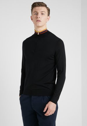 GENTS ZIP NECK - Pullover - black